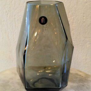 Jarrón cristal poliédrico