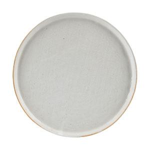 Plato cerámica blanco