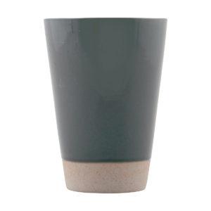Vaso cerámica gris