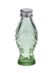 Botella cristal verde con tapa metálica 50 cc