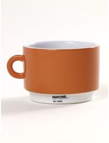 Taza cerámica naranja