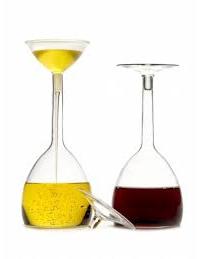 Vinajera + aceitera cristal